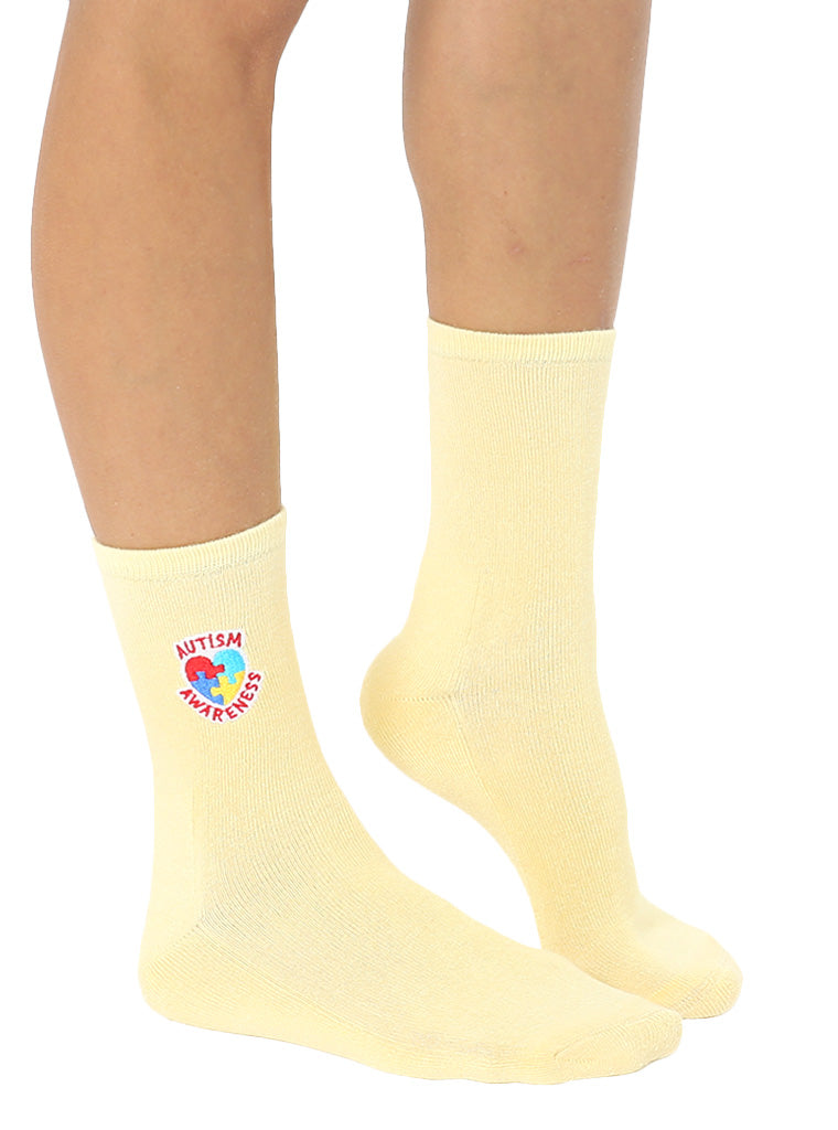 Autism Awareness Mid Crew Socks