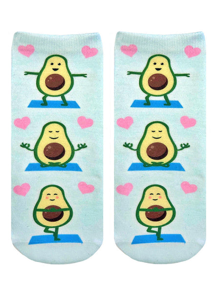 Avocado Yoga Ankle Socks