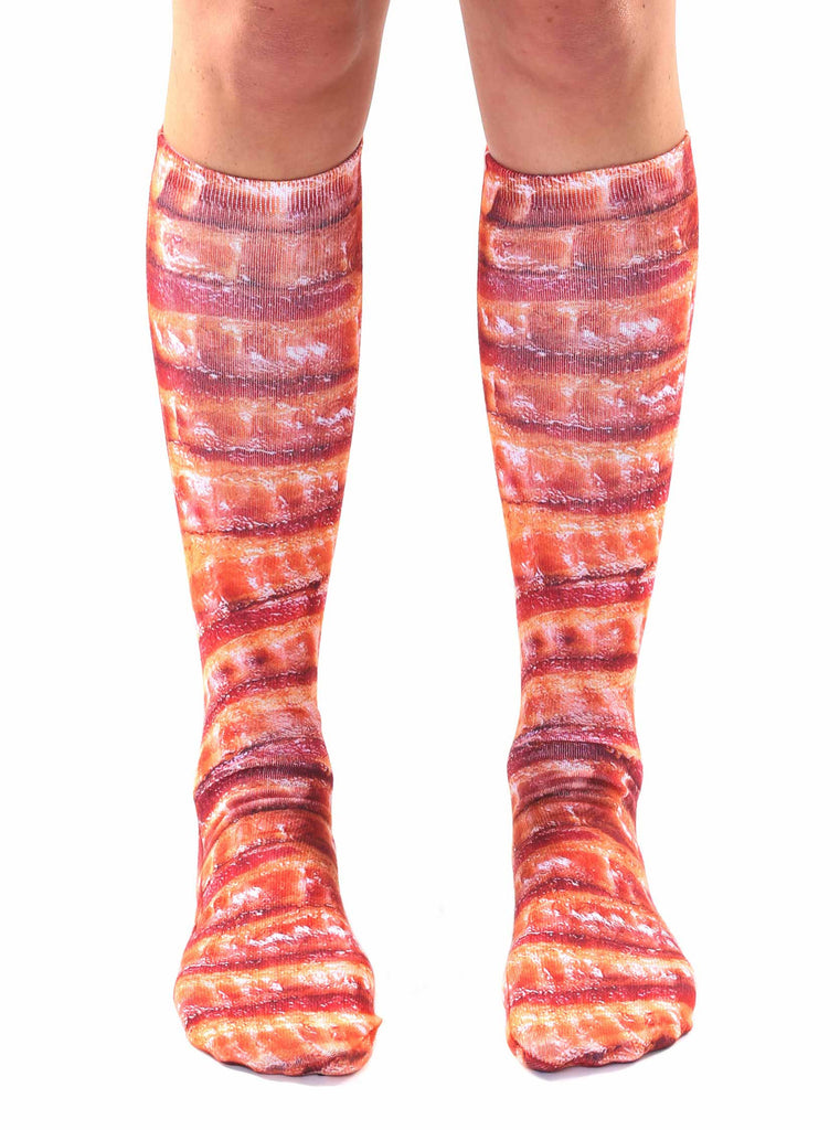 Bacon Knee High Socks