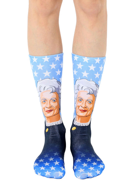 Barbara Bush Crew Socks