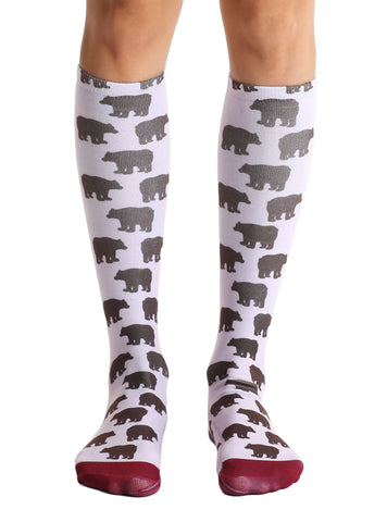 Bear Knee High Socks