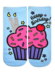 Birthday Cupcake Ankle Socks