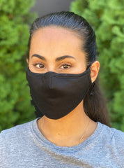 Adult No Valve Black Face Mask