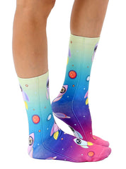 Blast Off Dogs Crew Socks