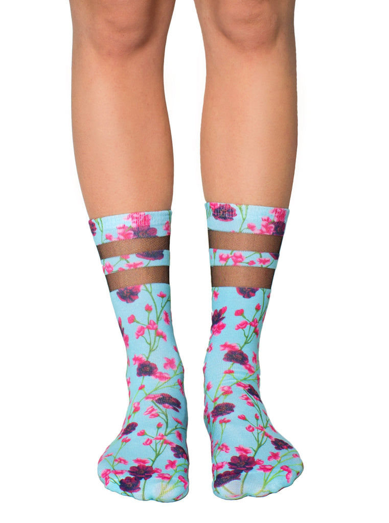 Cherry Blossoms Mesh Socks