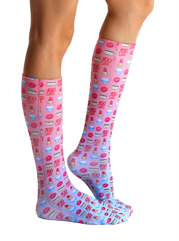 Boss Emoji Knee High Socks