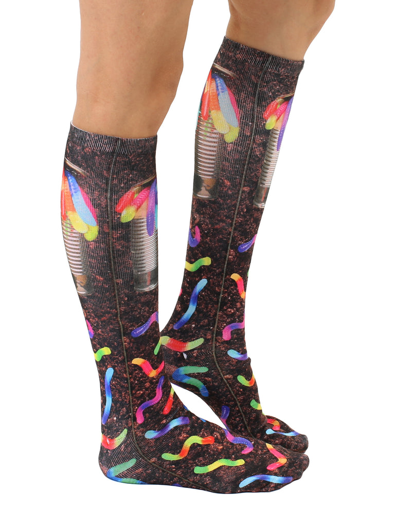 Can Of Worms Knee High Socks