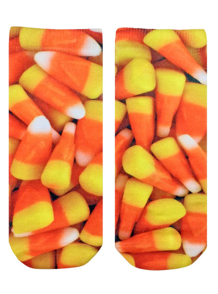 Candy Corn Ankle Socks
