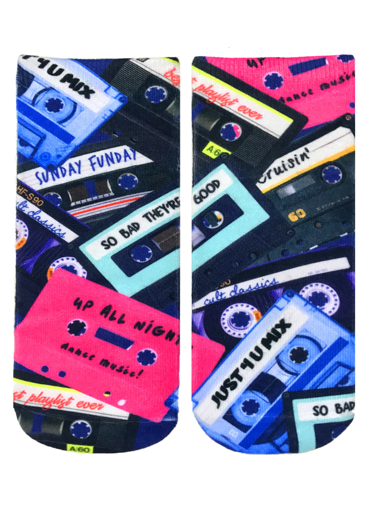 Cassette Tapes Ankle Socks