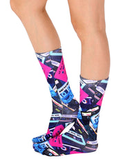 Cassette Tapes Crew Socks