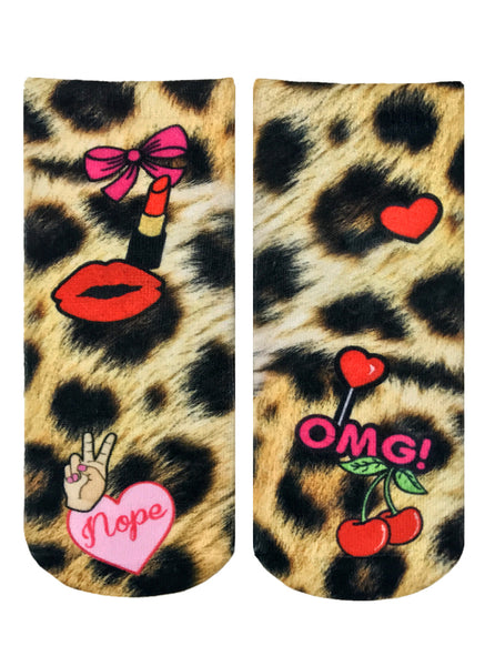 Cheetah Girl Ankle Socks