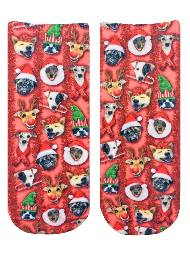 Christmas Dogs Ankle Socks