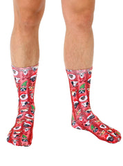 Christmas Dogs Crew Socks