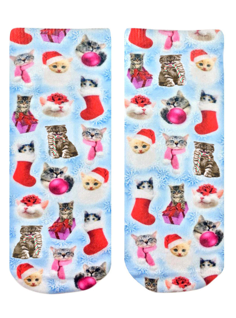 Christmas Kitties Ankle Socks