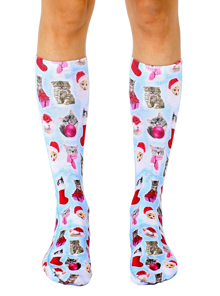 Christmas Kitties Crew Socks