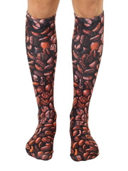 Coffee Beans Knee High Socks