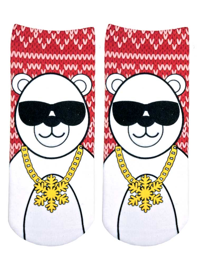 Cool Polar Bear Ankle Socks