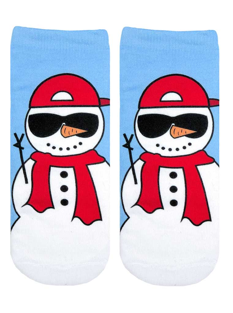 Cool Snowman Ankle Socks