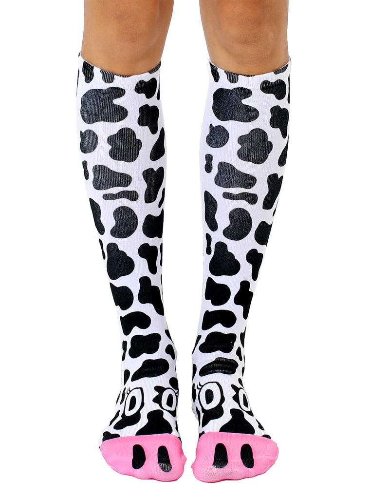 6dadc59547f Cow Knee High Socks – Living Royal