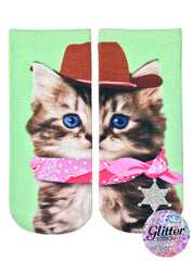 Cowboy Kitty Ankle Socks