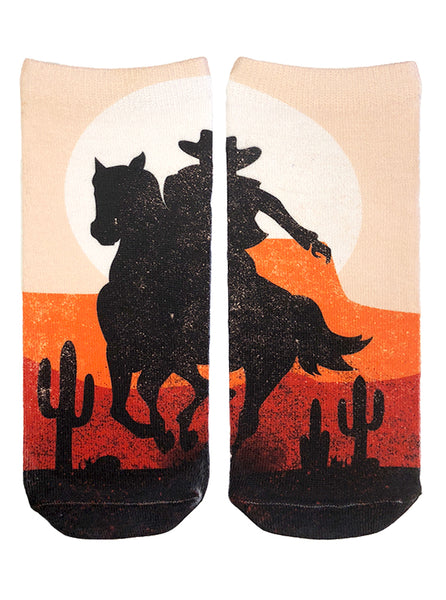 Cowboy Sunset Ankle Socks