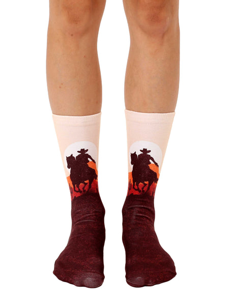 Cowboy Sunset Crew Socks