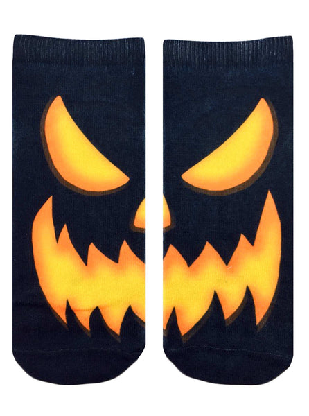 Creepy Jack O' Lantern Ankle Socks
