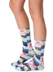 Cupcake Craze Crew Socks
