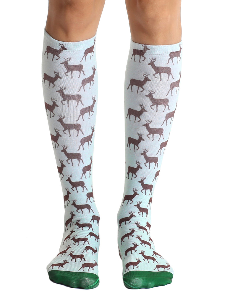 Deer Knee High Socks