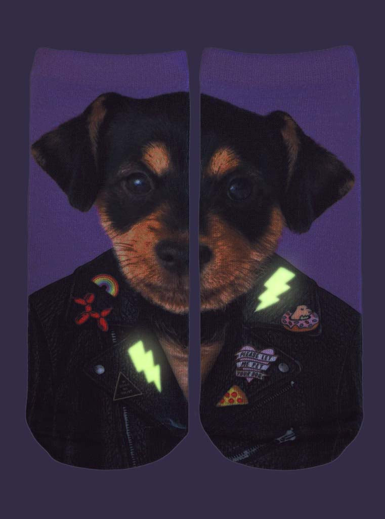 Punk Dog Ankle Socks