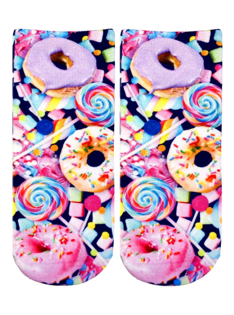 Donut And Candy Ankle Socks