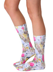 Easter Bunnies Crew Socks
