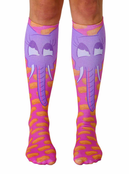 Elephant Knee High Socks