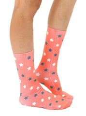 Faded Stars Crew Socks