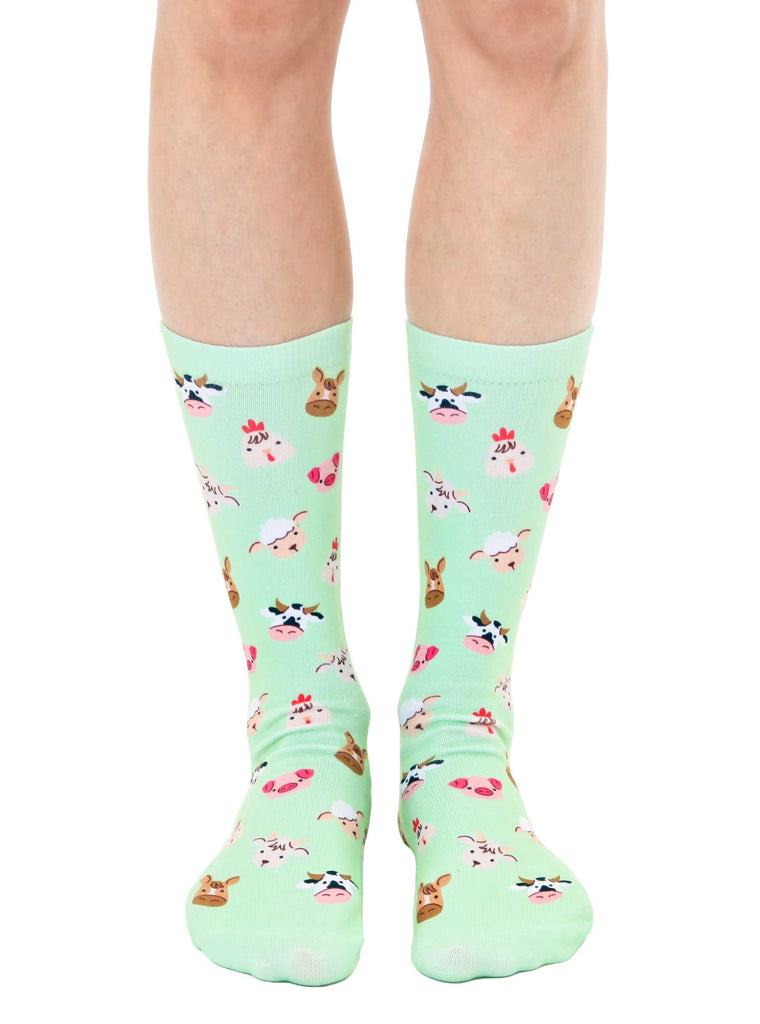 Farm Animal Crew Socks