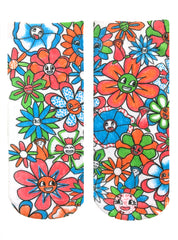 Color-In Socks Flower Fun