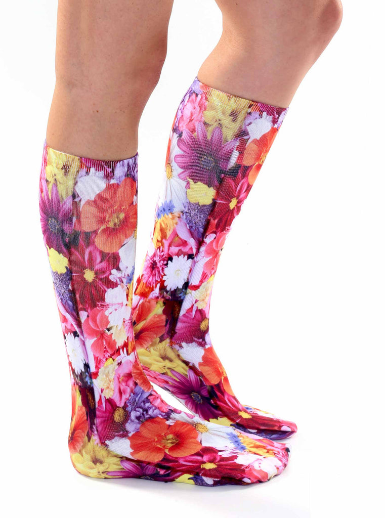 Flower Knee High Socks – Living Royal