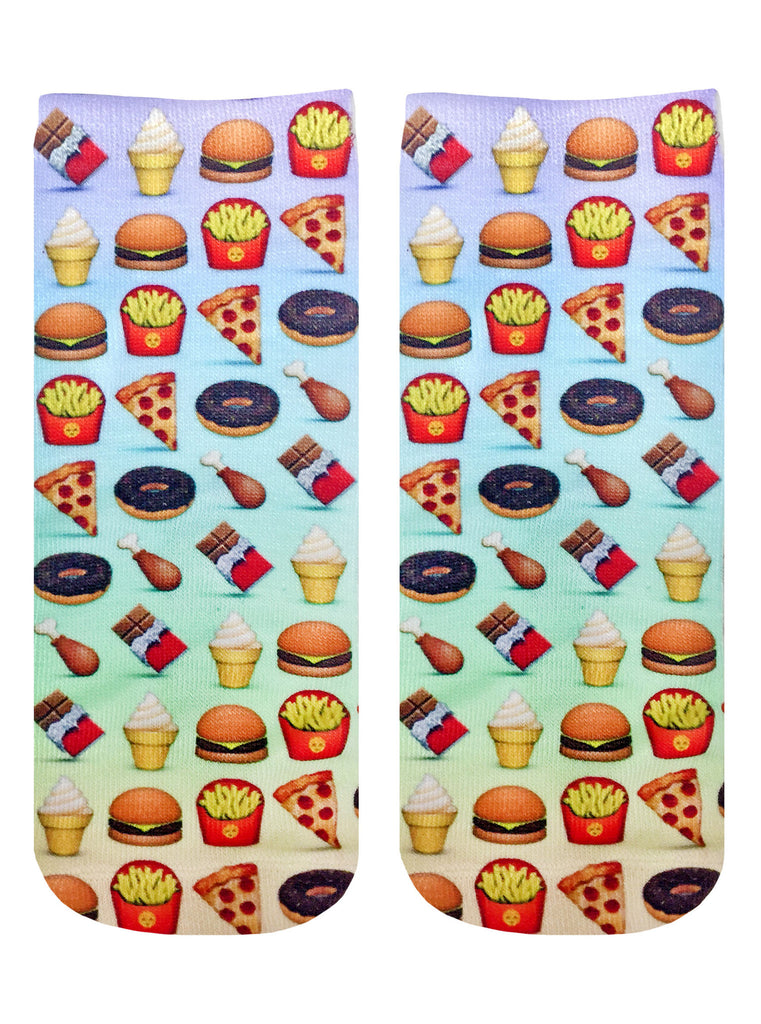 Food Emoji Ankle Socks