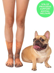 French Bulldog Paws Crew Socks