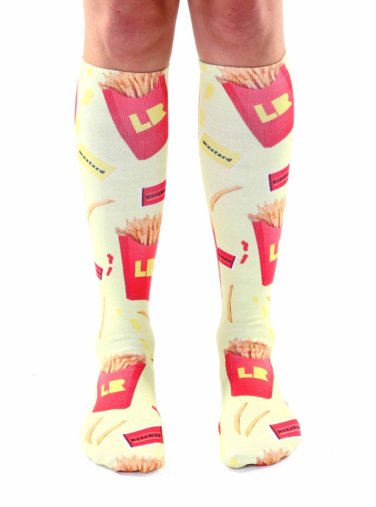 French Fry Knee High Socks