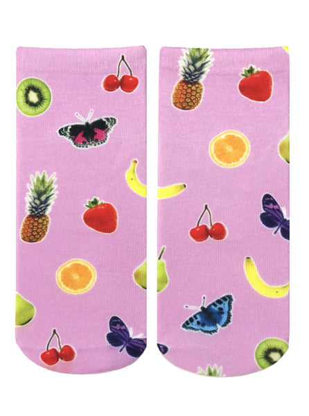 Fruits and Butterflies Ankle Socks