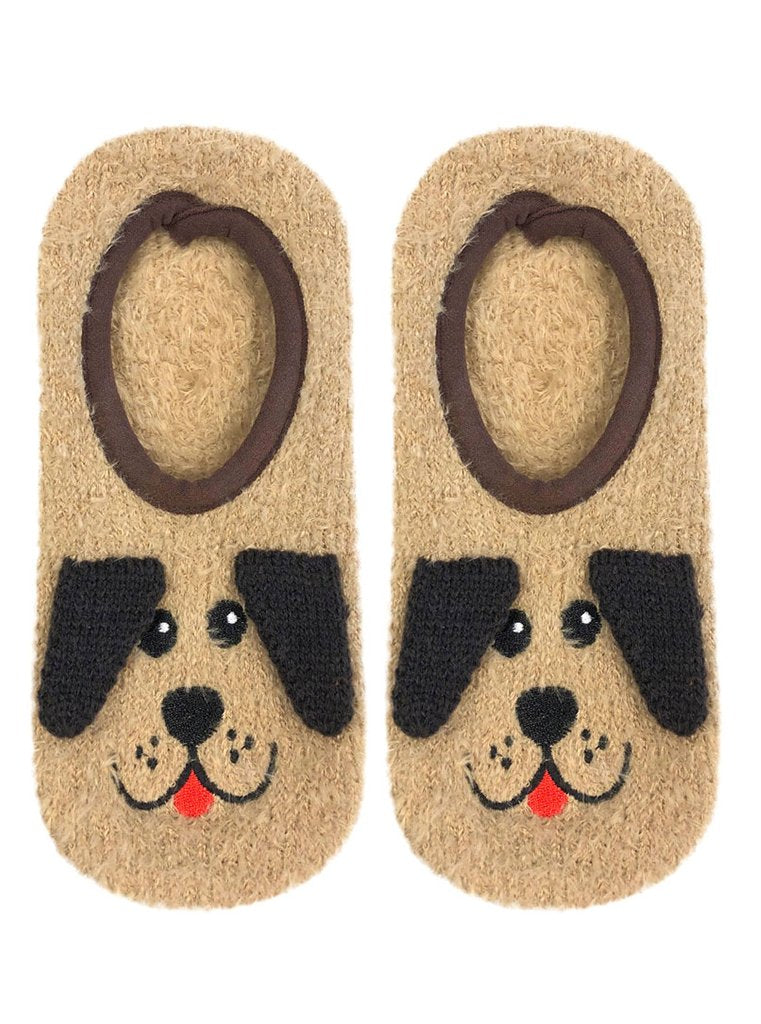 Fuzzy Dog Slipper