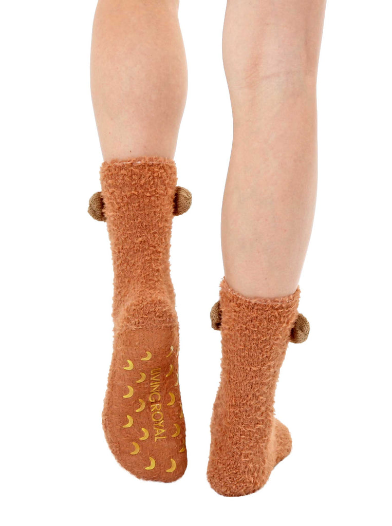 Fuzzy Monkey Crew Socks