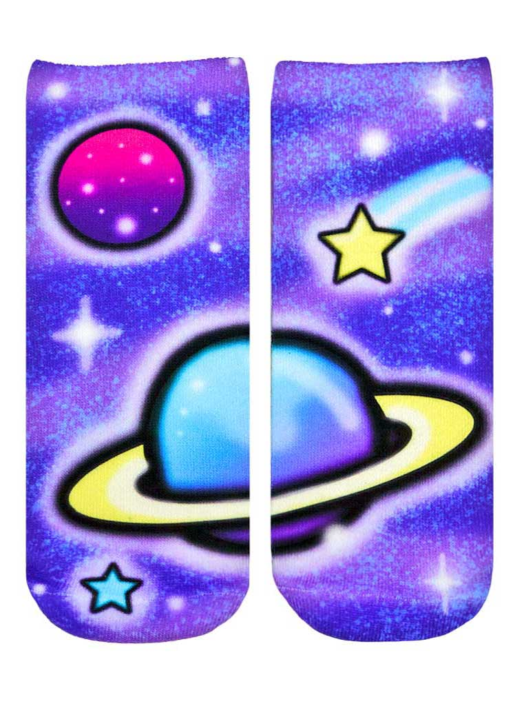 Galaxy Airbrush Ankle Socks