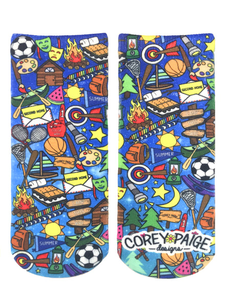 Galaxy Camp Ankle Socks