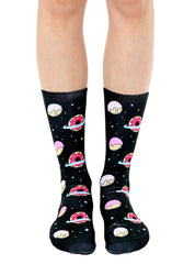 Galaxy Donut Crew Socks