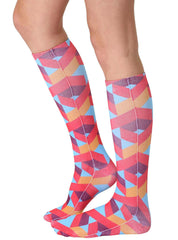 Geo 6 Knee High Socks