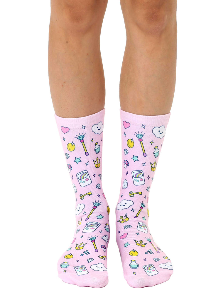 Girly Gamer Crew Socks