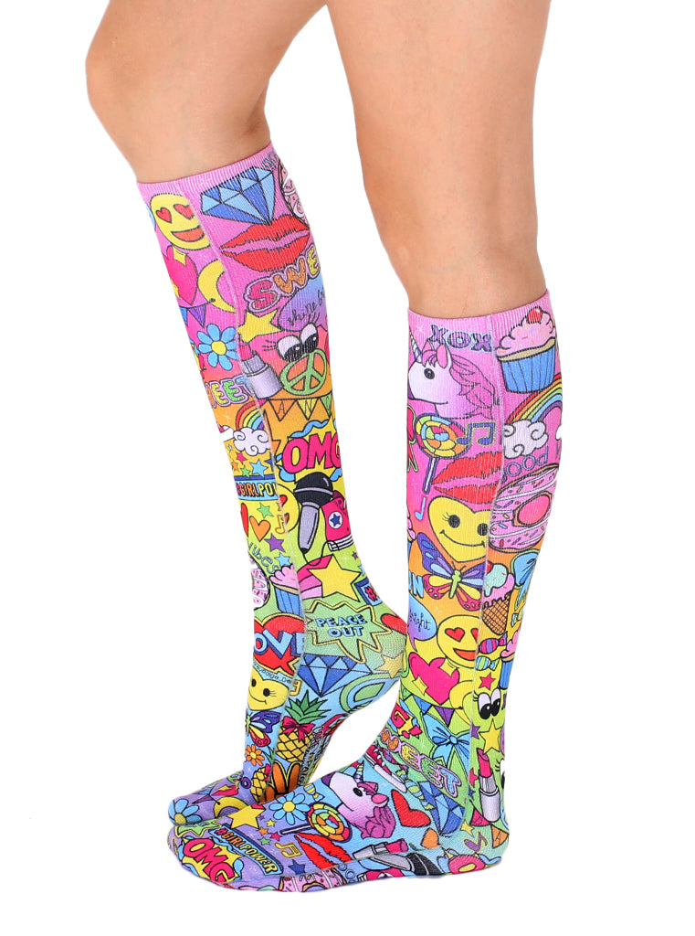 Glamour And Glitter Knee High Socks