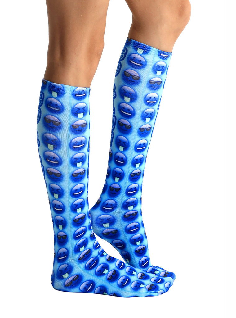Go Blue Knee High Socks